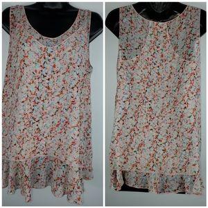 CAbi print sleeveless top Size M